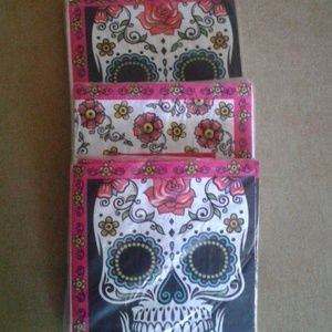 4 PACKS OF DAY of the DEAD , NAPKINS, 2 SIZES